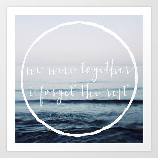 We Were Together Art Print