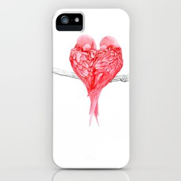 Red Heart Birds Love iPhone Case