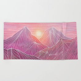 Lines in the mountains 02 Beach Towel