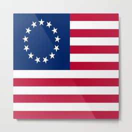 Historical flag of the USA : Betsy ross Metal Print
