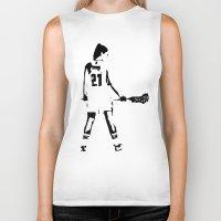 lacrosse Biker Tanks featuring Lacrosse girl by laxwear
