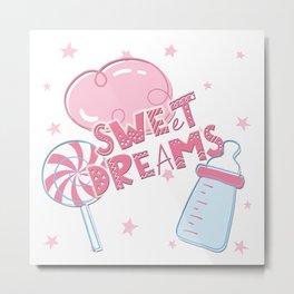Sweet Dreams Baby Clock Metal Print