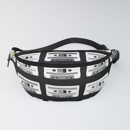 Black and White Tapes Fanny Pack