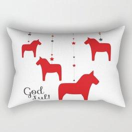 God jul - Dala style Rectangular Pillow
