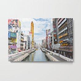Osaka city view Metal Print