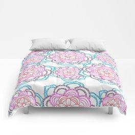 Sunset mandalas Comforters