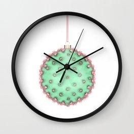 Cactus Christmas Ball Wall Clock