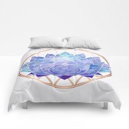 Violet Zen Lotus Comforters