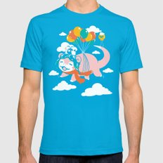 Slowpilot Mens Fitted Tee X-LARGE Teal