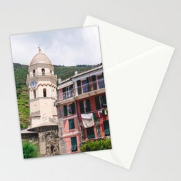 Hometown Chapel   Cinque Terre Italy Architecture Landscape Photography Stationery Cards