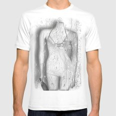 Even plastic can be lonely  ♥ MEDIUM Mens Fitted Tee White
