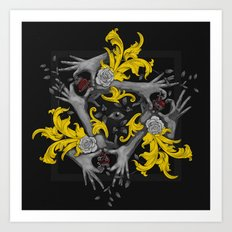Hands and Hearts Art Print