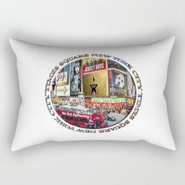 Times Square New York City (badge emblem on white) Rectangular Pillow