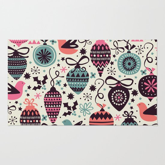 Birds and Baubles  Rug
