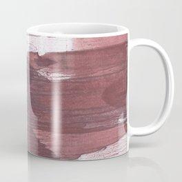 Burgundy Gray Coffee Mug