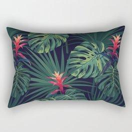 Tropical pattern with Guzmania flowers Rectangular Pillow