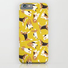 beagle scatter yellow iPhone 6s Slim Case