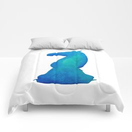 Chess Knight Watercolor Comforters