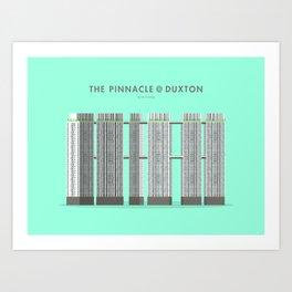 The Pinnacle at Duxton, Singapore [Building Singapore] Art Print