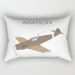 German WWII BF109 Military Airplane Fighter Rectangular Pillow