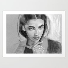 Charcoal Drawing No. 5 Art Print