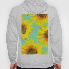 Sunflowers on a pastel green backgrond - #Society6 #buyart Hoody