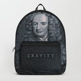 Gravity / Vintage portrait of Sir Isaac Newton Backpack