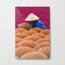 Vietnam's Incense Village  Metal Print