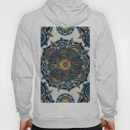 Mandala Blue and Gold Hoody