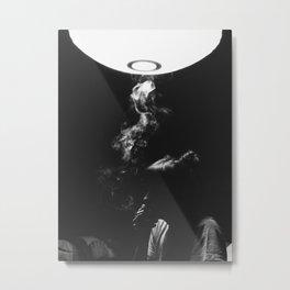 Smoking Lady Metal Print