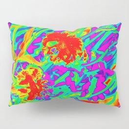 Psychedelic flower garden Pillow Sham