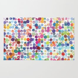 Watercolor Drops Rug