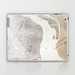 Feels: a neutral, textured, abstract piece in whites by Alyssa Hamilton Art Laptop & iPad Skin