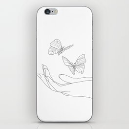 Butterflies on the Palm of the Hand iPhone Skin