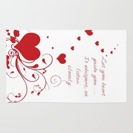 Let Your Heart Guide You Valentine Message Rug