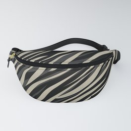 Tiger abstract striped pattern . Fanny Pack