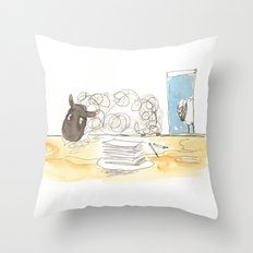 Sheeps loves papers Throw Pillow