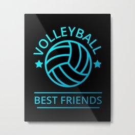 Volleyball Best Friends II Metal Print