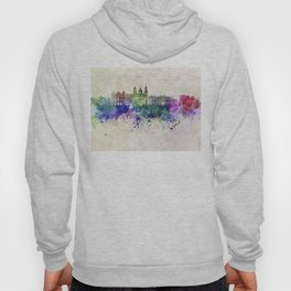 Salzburg skyline in watercolor background Hoody