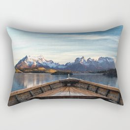 Torres del Paine National Park Chile, The Boat in Patagonia Rectangular Pillow