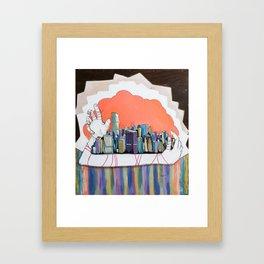 Through a Pin hole.  Framed Art Print
