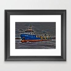 Sea Dredger  Framed Art Print