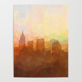 Atlanta, Georgia Skyline - In the Clouds Poster