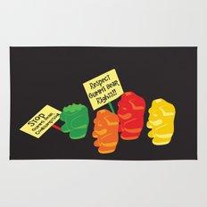 Stop Gummibear Cruelty! Rug