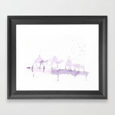 Watercolor landscape illustration_Sahara Framed Art Print