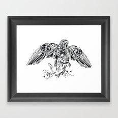 Patterned Peregrine Framed Art Print