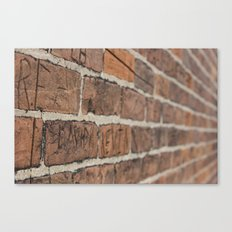 Another Brick in the Wall Canvas Print