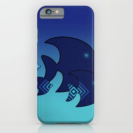 Nine Blue Fish with Patterns iPhone Case