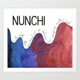 Nunchi Art Print