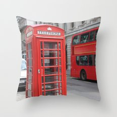 London Calling Throw Pillow